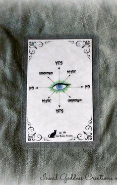 Pendulum Card for Use with a Pendulum