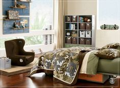 Creatively Themed Bedroom Ideas for Teens: Army Themed Bedroom – Excellent Design For Brightening Your Ideas