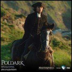 Aidan Turner as Ross in funeral costume. | Poldark, as seen on Masterpiece PBS