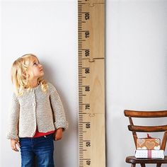 The 'Kids Rule' wooden ruler height chart is a handmade, personalised wooden growth chart, designed as a giant vintage wooden ruler by Lovestruck Interiors. Casa Kids, Growth Chart Ruler, Growth Charts, Wooden Ruler, Deco Kids, Ideias Diy, Baby Kind, Kid Spaces, Little People