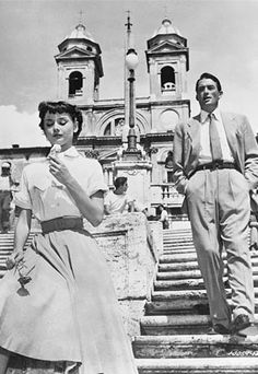 Ate gelato on the Spanish Steps in Rome like Audrey Hepburn, minus the handsome man.