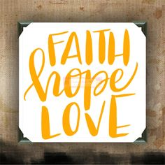 FAITH HOPE LOVE - Painted Canvases - wall decor - wall hanging - custom canvas - inspirational quotes on canvas by CreativeStudio805 on Etsy