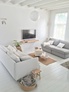 neutral clean space, 2 couches