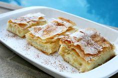 Bougatsa - Görög grízes lepény Greece Food, Hungarian Recipes, Greek Recipes, Brie, Apple Pie, Tart, French Toast, Food And Drink, Cooking Recipes