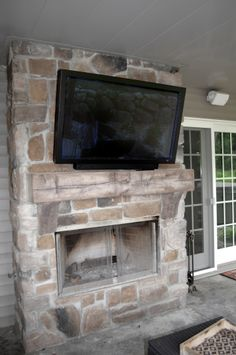 Outdoor Fireplace Price Quartz with Barn Beam Mantle JN Stone