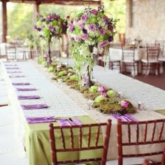 How to Decorate Wedding Tables with Ease #weddinggawker