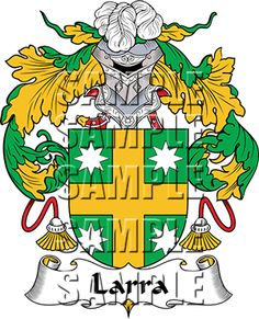 Larra Family Crest apparel, Larra Coat of Arms gifts