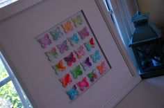 Combining Pinterest projects!  Butterfly collage made from my kids bubble art!