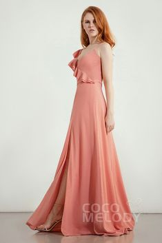 3a98e95150f29 A-Line Sweep-Brush Train Bridesmaid Dress CB0283. Cute Twisted Silk Fabric  ...