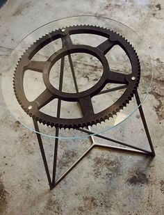Industrial Home Decor. Super Cool repurposed gear.