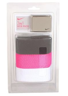 New Ladies Nike Golf- Web Belt 3 Pack - Black/Pink/White by Nike, http://www.amazon.com/dp/B007JM1BNW/ref=cm_sw_r_pi_dp_mJGrrb1CNQJPY