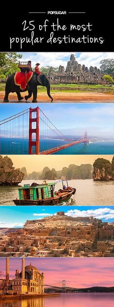 25 of the World's Top Travel Destinations #travel #wanderlust #explore ... would love to travel :)