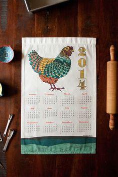 2014 tea towel calendar | Flytrap