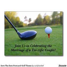Save The Date Postcard-Golf Theme Postcard
