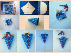 Faça Você Mesmo um palhaço de brinquedo dançarino utilizando tecido, papelão e vareta de pipa.