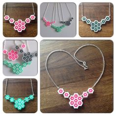 Necklaces hama mini beads by prettyrandomthings_rach_elske