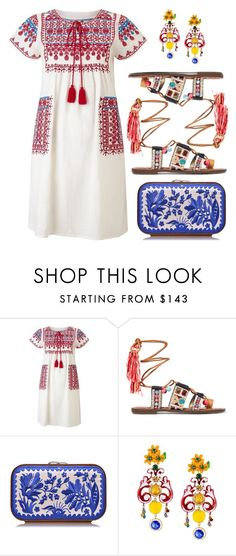 """""""Holiday fashion"""" by l-amisa ❤ liked on Polyvore featuring Star Mela, Sam Edelman, Katrin Langer and Dolce&Gabbana"""