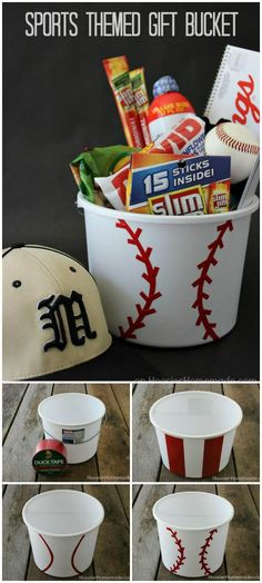 Easy Sports Themed Gift Basket