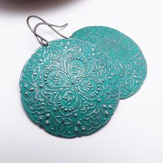 Large Painted Boho Jewelry Bohemian Earrings by LunaJewelry, $25.00