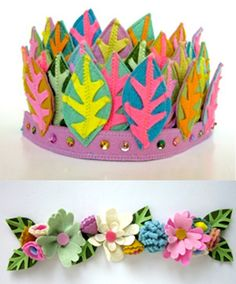 feather/leaf crown