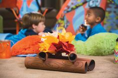 Plan a fun indoor camping adventure for the kids