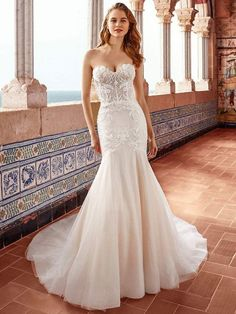 Fit And Flare Wedding Dress, New Wedding Dresses, Cheap Wedding Dress, Bridal Dresses, Allure Bridals, Strapless Sweetheart Neckline, Sweetheart Wedding Dress, Women's Fashion Dresses, Marie