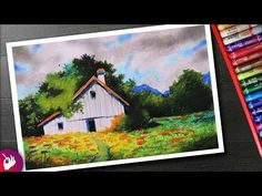 Learn to draw village scenery landscape drawing for beginners with oil pastel. Things used Camlin Kokuyo Oil Pastel Shades) https:. Oil Pastel Paintings, Oil Pastel Art, Oil Pastel Drawings, Cool Art Drawings, Oil Pastels, Watercolor Paintings, Horse Paintings, Scenary Paintings, Oil Pastel Landscape