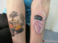 Wall-e Eve Tattoo By Sergey Voynov