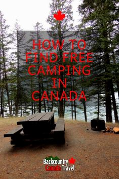During my recent camping trip, I stayed in some of the most beautiful campsites for free. Free camping in Canada is possible with the right maps and apps. Find out how! Camping And Hiking, Camping Hacks, Backpacking, Camping Jokes, Camping Activities, Camping Essentials, Camping Ideas, Voyage Canada, Canada Canada