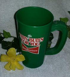 $4.95 or best offer Budweiser Stein SUPER MUG St Patricks Day Plastic Cup betras plastics