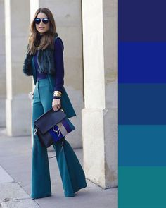 business mode damen Discover the details that make the difference of the best unique people with a lot of Colour Combinations Fashion, Color Combinations For Clothes, Fashion Colours, Colorful Fashion, Color Blocking Outfits, Blue Fashion, Color Combos, Style Fashion, Trend Fashion