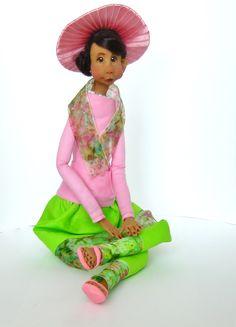 Ooak Handmade Clay and Cloth Art Doll