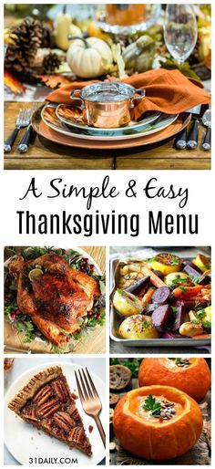 An Easy Thanksgiving Menu