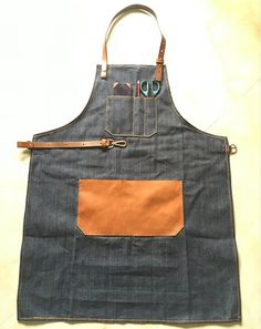 handmade leather artisan denim apron shop apron for by 3cobblers