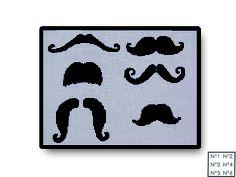 Mes jolies Moustaches. Point de croix / Cross Stitch Canvases.