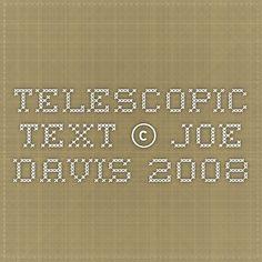 Telescopic Text © Joe Davis 2008