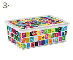 Set de 3 cajas de almacenaje ABC - S