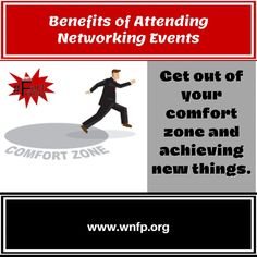 What are the benefits of attending networking events? To get out of your comfort zone and achieving new things. #networkingevents #businessevents #business Business Events, Business Networking