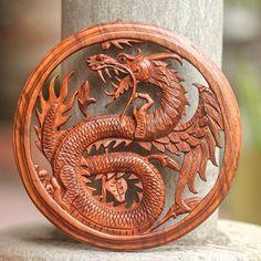 «Dragon with Lotus Bud»