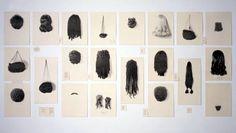 Lorna Simpson, Wigs (portfolio) 1994 - waterless lithograph on felt, Collection Walker Art Center Artwork Images, Famous Photographers, Black Artists, African American Hairstyles, Texture Art, T 4, Bunt, Contemporary Art, Modern Art