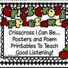 $This download for my Crisscross Rules for Good Listening Poster and Poem and Book Printables Set is sure to get you ready for school and some good ...