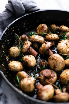 Tender skillet roasted 15-minute garlic butter mushrooms have the most amazing flavor and are the perfect appetizer or side dish for any favorite meal.  Remember that one time when I made the most insanely delicious buttery herb and garlic roasted mushrooms in a skillet and then died and went to heaven? Oh hey that's today.... Read More »