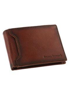 Bruno Banani Geldbörse aus Leder. 8 Kartenfächer. 6 Steckfächer. Münzfach mit Druckknopfverschluss. Sichtfach. 2 Scheinfächer. Gr. ca. 12/10/2 cm....