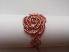 Pink Rose bracelet by Albumita on Etsy