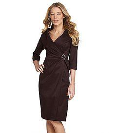 KM Collections Taffeta Dress #Dillards