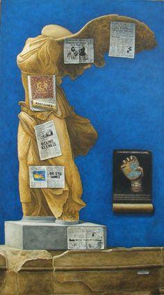"""Χαραλαμπίδης Κώστας""""Ελλάδα πού πας"""" Go Greek, Greek Art, Greece Painting, Local Color, Painter Artist, 10 Picture, Color Of Life, Conceptual Art, New Art"""