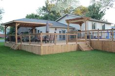 Our beautiful deck built by hubby (with some help from others)