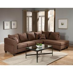 this full wraparound sectional features beautiful elegant microfiber seats and back nesting in a solid pine
