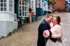 Look at this happy couple! Mea and Toby had a little walk around Lymington in the rain after the ceremony. It's wet and windy but they have these huge smiles on their faces! Just Engaged, New Forest, Forest Wedding, Our Wedding Day, Down Hairstyles, Hampshire, Unique Weddings, Wedding Photos, Rain