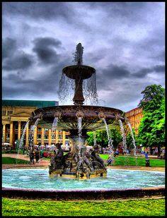 Schlossplatz Park Stuttgart Germany.